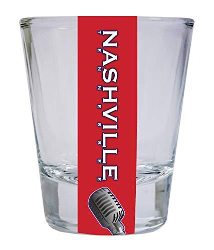 Nashville Tennessee Music City Trendy Souvenir Round Shot Glass