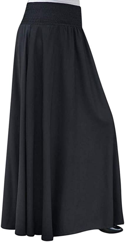 beautyjourney Falda Larga Mujer A-Line Vintage Falda Plisada ...
