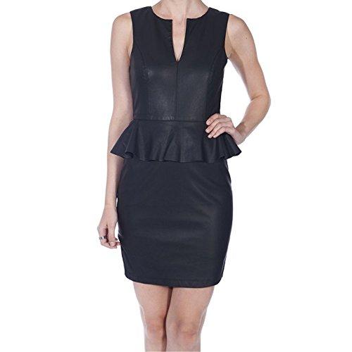 Only Joshi S/S Pu Peplum Dress Black 15083261