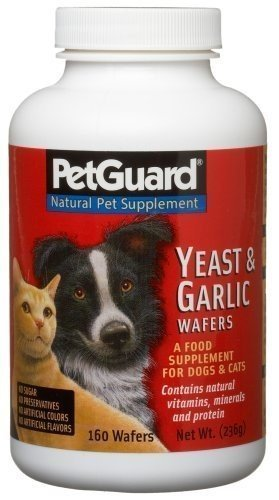 Pet Guard Yeast & Garlic Supplement for Dogs & Cats - 160 Wafers, 4 pack by Pet Guard ()