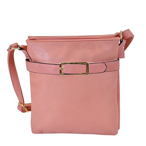 Ice Buckled Fashion Leather Body Purse Cross Strawberry Faux Chic Collection MoDA qvn65aFCw