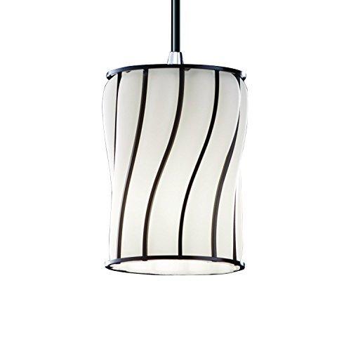 Justice Design Group Lighting WGL-8815-10-SWOP-CROM Mini One Light Pendant by Justice Design Group Lighting
