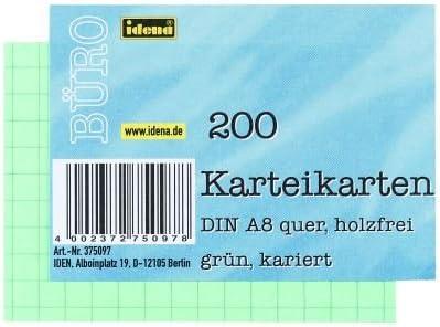 kariert 600 gr/ün 3x 200 Karteikarten DIN A8