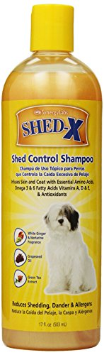 Shed-X Shed Control Shampoo for Dogs and Cats, 16oz - Reduce Shedding, Dander, Allergens - Infuses Skin and Coat with Vitamins and Antioxidants to Clean, Release Excess Hair and Exfoliate