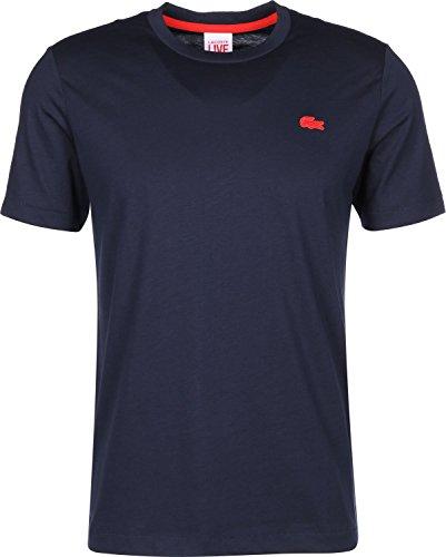 Live1 Bleu Homme T Azur shirt Lacoste HCxvwdqw