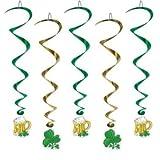 St. Patrick's Day Whirls 40in 5/Pkg Pkg/1