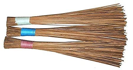Natural Coconut Leaf Grass Broom Stick for Floor Cleaning, Bathroom Cleaning & Wet Floor Pack of 3