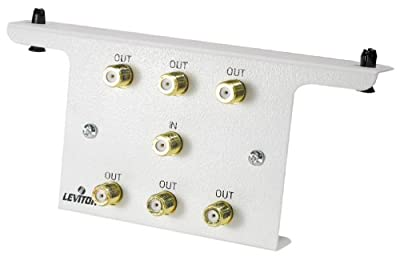 Leviton 47690-6C2 1x6 2GHz Passive Video Splitter