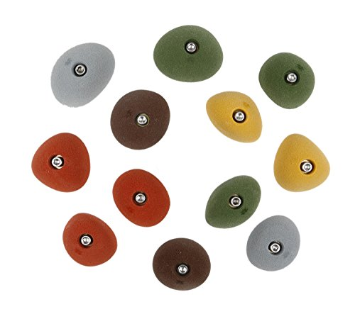 12 Medium Slopers | Climbing Holds | Mixed Earth Tones by Atomik Climbing Holds