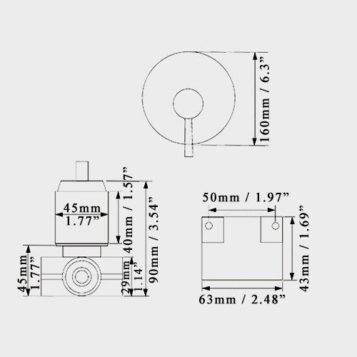 JiaYouJia Round Style Solid Brass 1 Outlet Mixing Shower Valve
