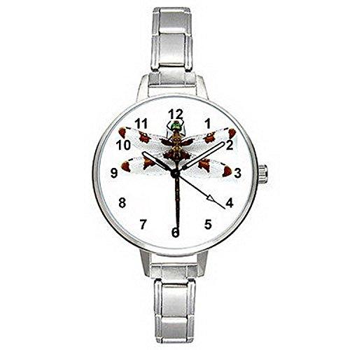 BMTC140 Dragonfly Stainless Steel Italian Charm Bracelet Mens Ladies Wrist Watch