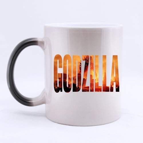 Fonts Godzilla Monster Customized Personalized Coffee Mug Novel Gift Mugs Morphing Ceramic Cup Water Office Home Cups 11 OZ Two Sides (Godzilla Coffee Cup compare prices)