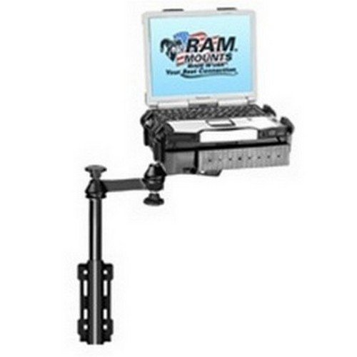 Universal Flat Surface Vertical Drill-Down Vehicle Laptop Mount ()