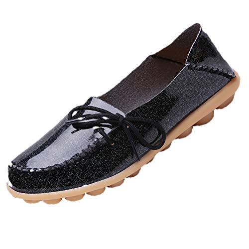 Deloito Damen Mode Freizeit Schnürschuhe Gemütlich Schlüpfen Einzelne Schuhe Runder Zeh Faultier Schuhe Flache Mokassins Espadrilles Schuhe