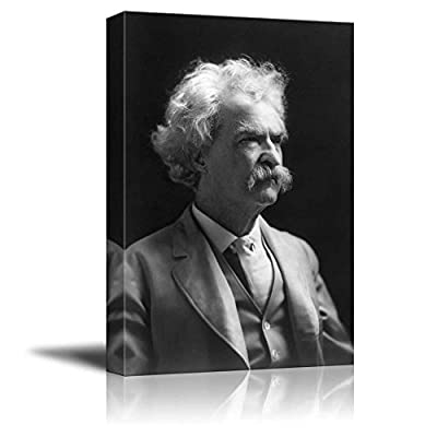 Pretty Object of Art, Portrait of Mark Twain Inspirational Famous People Series, Made to Last