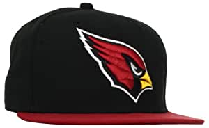 NFL Arizona Cardinals Black and Team Color 59Fifty Fitted Cap, Black/Red, 6 7/8