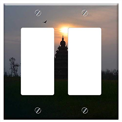 - Switch Plate Double Rocker/GFCI - Mahabalipuram Sunrise Shore Temple Chennai Old