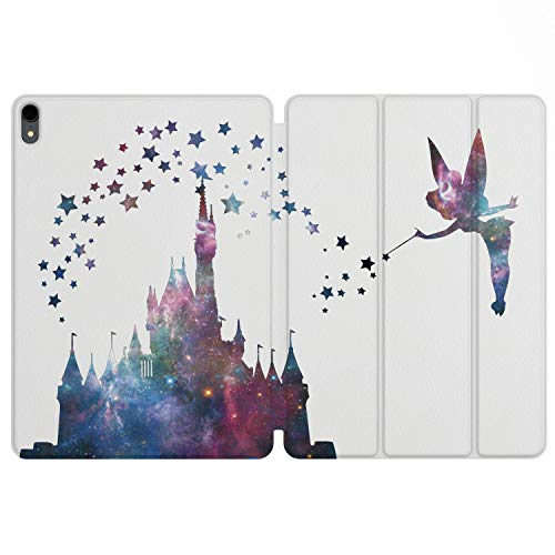 (Lex Altern iPad Case Pro 11 inch 12.9 Magnetic Cover 2019 2018 3D Generation Apple Protective Hard Shell Folio Trifold Smart Auto Wake Sleep Pencil Girl Cute Castle Disney Tinkerbell Print Star Kids)