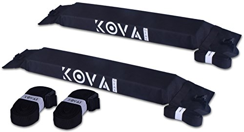 Kova Gear Car Soft Roof Rack Luggage Carrier, 2 Rack Pieces with Adjustable and Heavy-Duty Straps