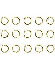 HEALLILY 200Pcs Rvs Split Ringen O Ring Assortiment Split Key Ring Open Connectors Cirkel Sieraden Jump Ring Metal Art Craft Ringen Sieraden Maken Levert