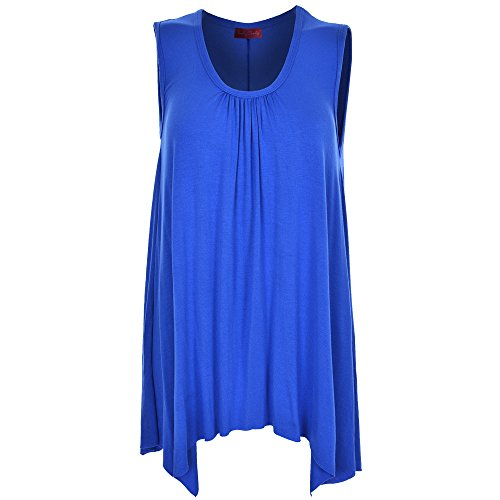 Body 2 Body - Camiseta sin mangas - Sin mangas - para mujer azul real