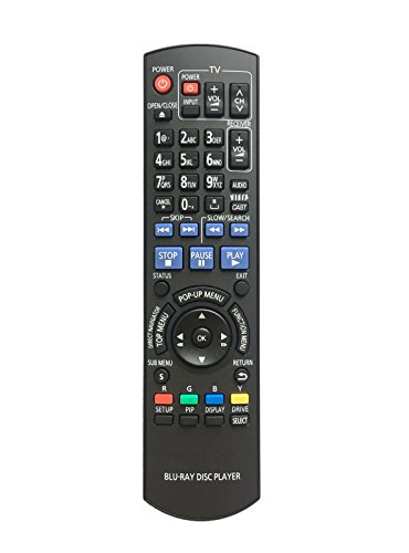 Price comparison product image Replaced Remote Control Compatible for Panasonic DMP-BDT300 N2QAYB000508 DMPBD75 DMP-BD60K DMPBD80K DMP-BD80 DMPBD60 BD Blu-Ray Disc DVD Players