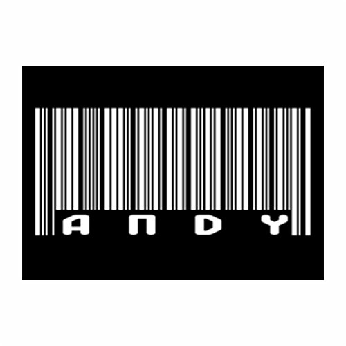 Teeburon BAR CODE Andy Pack of 4 Decal