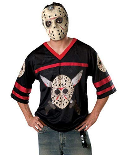 Friday 13 Halloween Costumes (Friday The 13Th, Jason Hockey Jersey And Mask, Black, Standard)