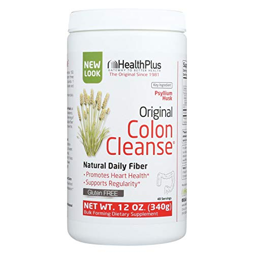 Health Plus The Original Colon Cleanse Plain - Good For Heart - Internal Cleansing - Weight Management - 12 oz (Pack of 4)