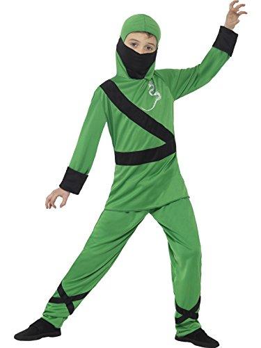 National Costume Usa Children (Green Ninja Assassin Boys Fancy Dress National Japanese Childs Kids Costume New)