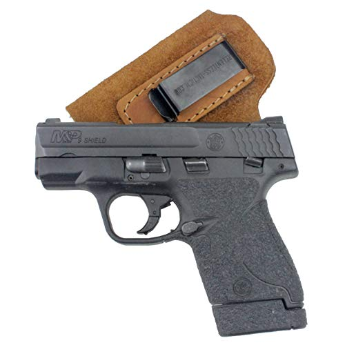 Relentless Tactical The Ultimate Suede Leather IWB Holster - Made in USA - Fits S&W M&P Shield - Glock 17 19 22 23 32 33 / Springfield XD & XDS/Walther P99 & All Similar Handguns - Brown LH (Iwb Holster Sig Sauer Mosquito)