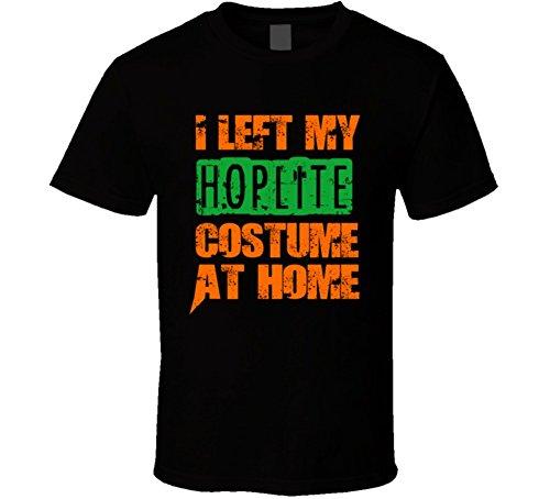 Left Hoplite Halloween Costume At Home Occupation T Shirt S Black