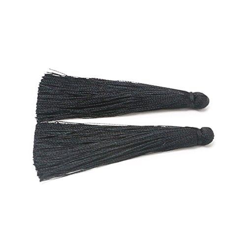 CHENGRUI 6.5CM Silk Tassels For Jewelry Making,Diy,Jewelry Accessories,Pack Of 10 Pcs