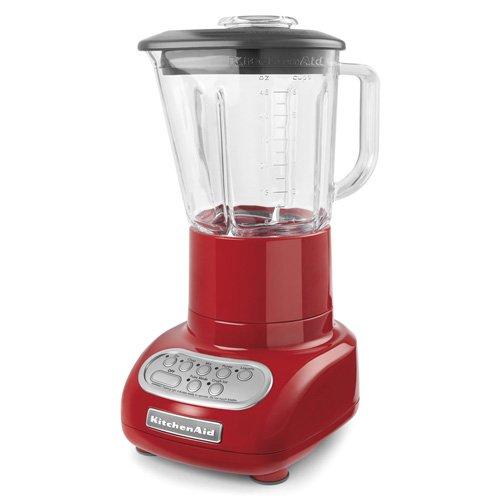 KitchenAid 5-Speed Blender with Glass Blender Jar, KSB565: Red
