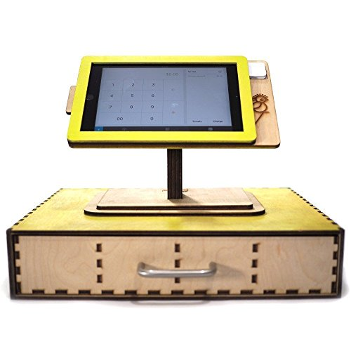 Square POS Stand for iPad Mini 1, 2, 3 and 4/ Laser cut and laser engraved POS stand and cashier. Perfect for business and office. by Quetzal Studio