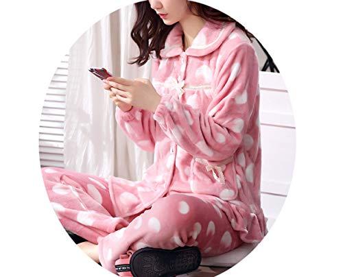 Sleepsuits Pi E Ispessimento Autunno Inverno Pigiama Corallo Donna Velluto rfqZr