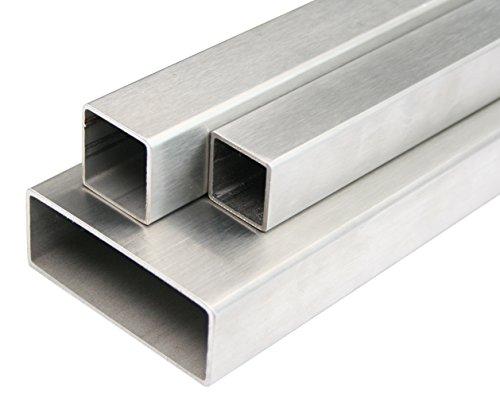 Edelstahl Rechteckrohr Blank Vierkantrohr Profilrohr Stahl Rohr V2A