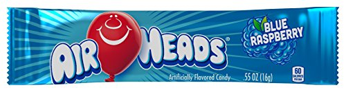 Airheads Bars, Blue Raspberry, 0.55 Ounce (Pack of 36)