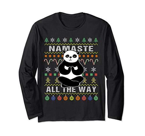 Panda Ugly Christmas Long Sleeve Shirt Namaste All The Way