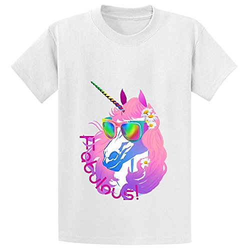 Sweatshirt T-shirt Reunion - Snowl Fabulous Unicorn Princess Unisex Crew Neck Personalized T Shirt White