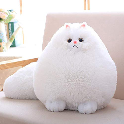 Winsterch Kids Cats Stuffed Animal Toys Gift Plush Cat Animal Baby Doll, Fat White Plush Cat,12 Inches ()