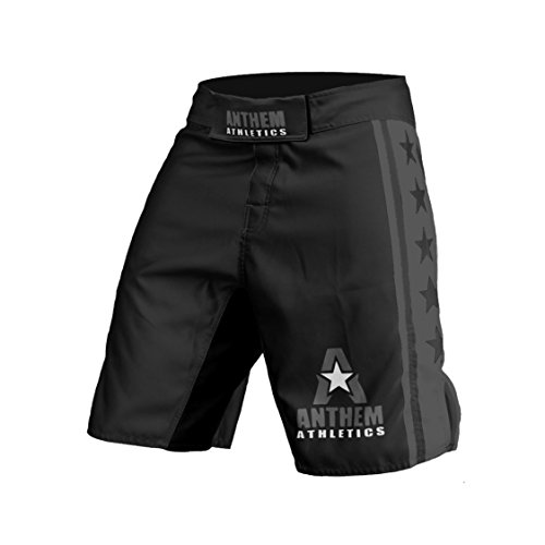 Anthem Athletics RESILIENCE Fight Shorts - Black & Grey - 38""