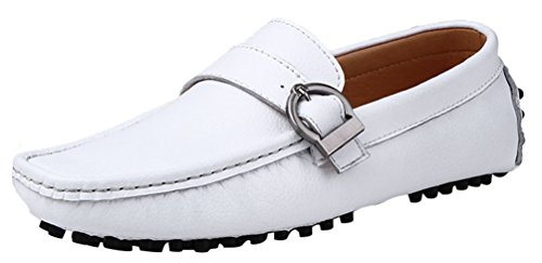 Driving Slip Casual Stylish Mocassini Mens Qyy on Bianco 669 Salabobo Shoes New Wc0zX1q