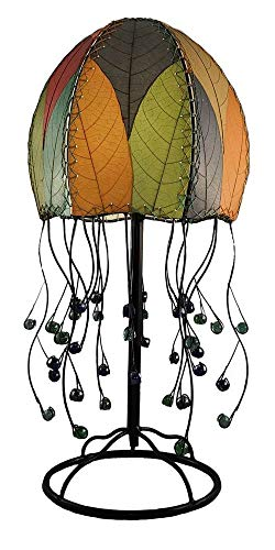 (Eangee Jellyfish Multi-Color Cocoa Leaves Table Lamp)