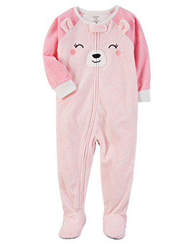 Carter's Baby Girls' 12M-24M One Piece Bear Fleece PJS 24 - Sale Online Warehouse Designer