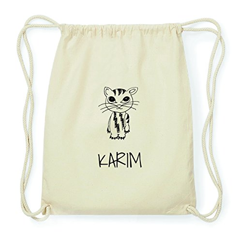JOllipets KARIM Hipster Turnbeutel Tasche Rucksack aus Baumwolle Design: Katze