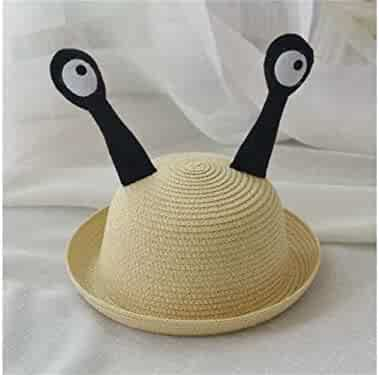 Yuchoi Sun Kids Insect Tentacles Straw Hat Children Sun Protection Hat Sun  Visor for 3- 2579b6b3d41d
