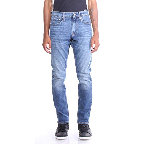 Calvin Klein Men's Slim Fit Jeans, Houston Mid Blue 30x30