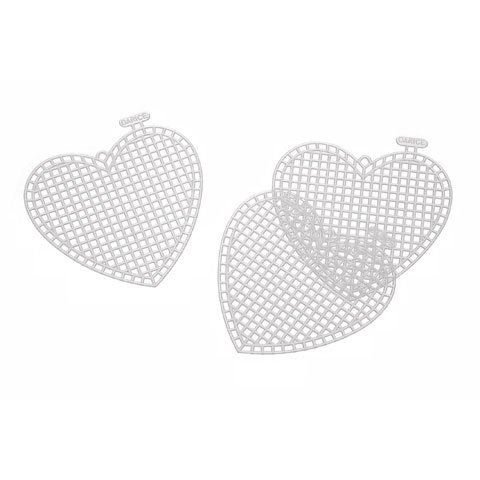 Heart Needlepoint Canvas (30 Pcs Plastic Canvas Heart Shape (Size: 3