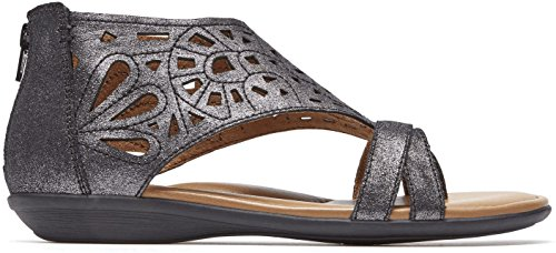 Rockport Cobb Hill Collection Women's Cobb Hill Jordan Dark Pewter Sandal by Rockport Cobb Hill Collection
